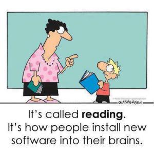 It's called reading it's how people install new software into their brains